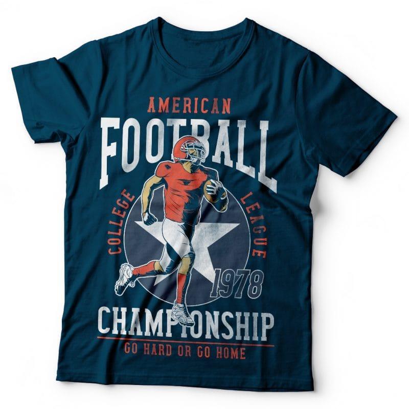 American Football. Vector T-Shirt Design buy t shirt design