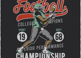 American Football. Vector T-Shirt Design