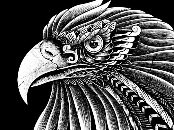 Eagle Ornate vector clipart