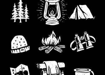 Camp t shirt vector