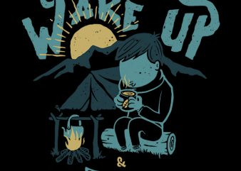Wake up and Drink a coffee t shirt design for sale