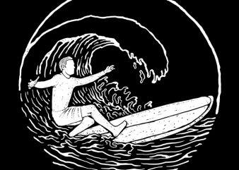 Surf Vibes t shirt template vector