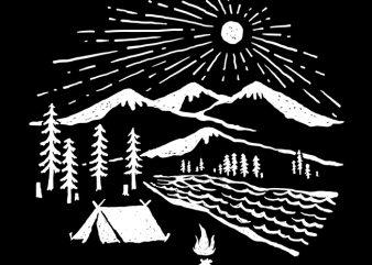 Wilderness t shirt design for sale