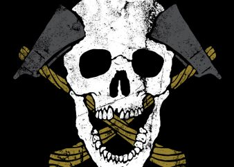 Skull Axe vector t shirt design buy t shirt design