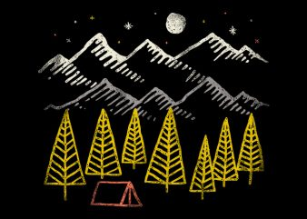 Camp Forest t shirt vector file