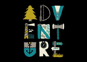 Adventure Typo t shirt vector
