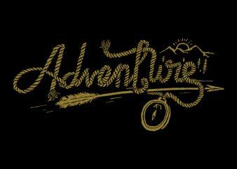 Adventure Rope t shirt vector