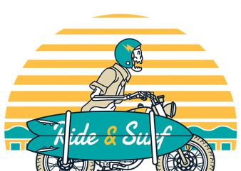 Ride and Surf buy t shirt design