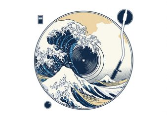 The Great Wave off Sound t shirt designs for sale