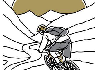 Mountain Biker t shirt vector