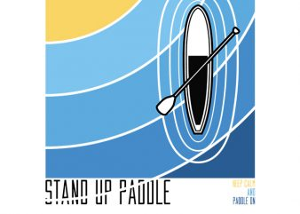 Stand up Paddle buy t shirt design