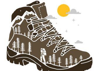 Adventure Boot t shirt vector