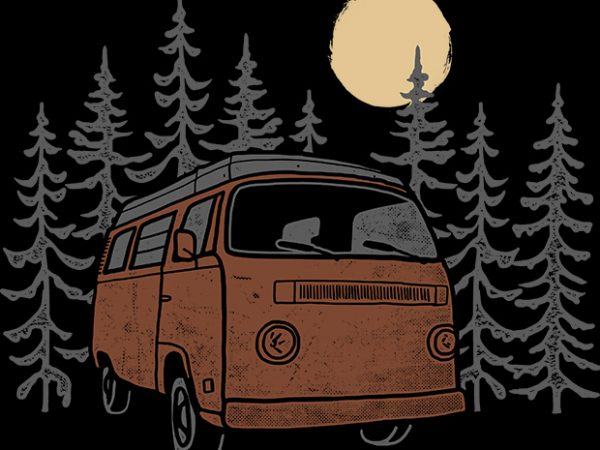 Adventure Van t shirt vector
