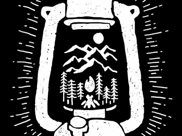 Lantern t shirt vector graphic