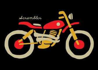 Scrambler buy t shirt design