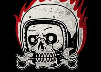 Skull Biker buy t shirt design