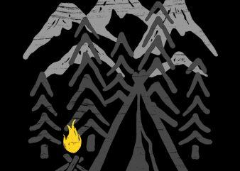 Camp Fire buy t shirt design