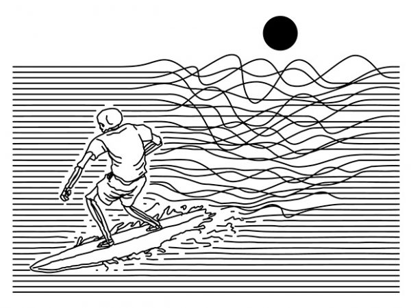 Surf Line t shirt template vector