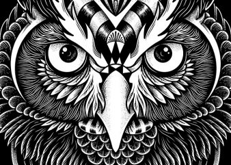 Owl Ornate t shirt design online