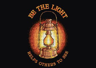 Be The Light Graphic t-shirt design buy t shirt design