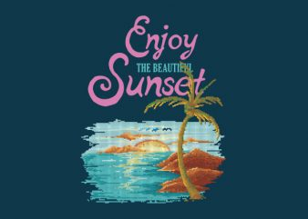 Beautiful Sunset tshirt design buy t shirt design