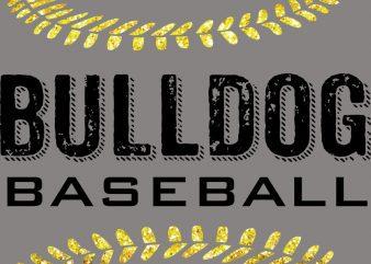 Bulldog Baseball T-Shirt Design buy t shirt design