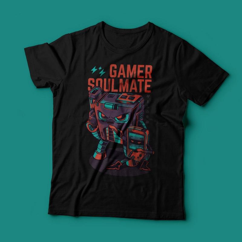 Gamer Soulmate buy t shirt design