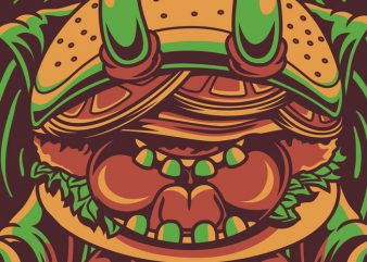 Yoga Burger t shirt design template
