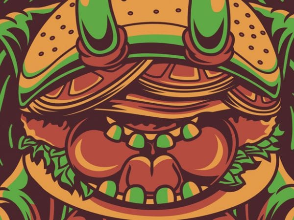 Yoga Burger buy t shirt design