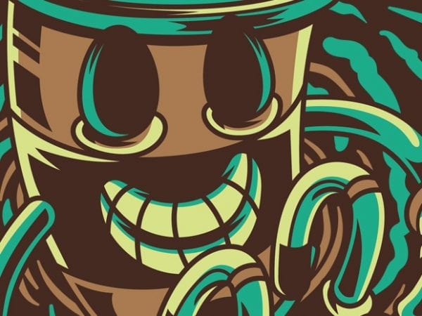 Coffee Boost t shirt vector file