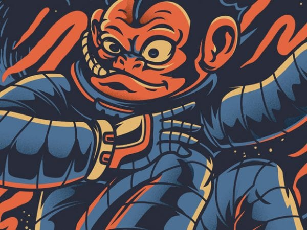 Monkey Skate t shirt designs for sale