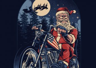CHOPPER SANTA T-shirt Design buy t shirt design