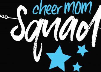 Cheer Mom Squad T-Shirt Design