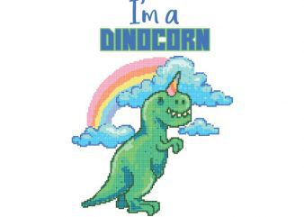 Dinocorn tshirt design t shirt vector