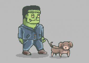 Franken Dog tshirt design