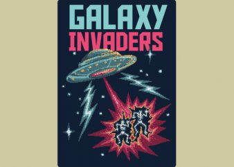 Galaxy Invaders tshirt design buy t shirt design