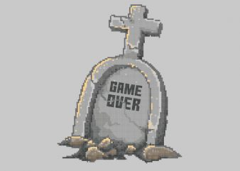 Game Over tshirt design