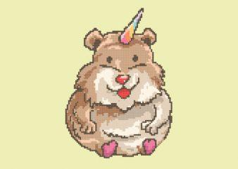 Hamster Unicorn tshirt design