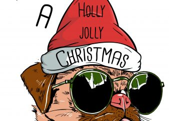 Holly Jolly Christmas graphic t shirt