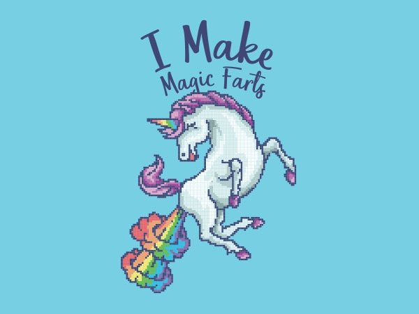 I Make Magic Farts Graphic t-shirt design