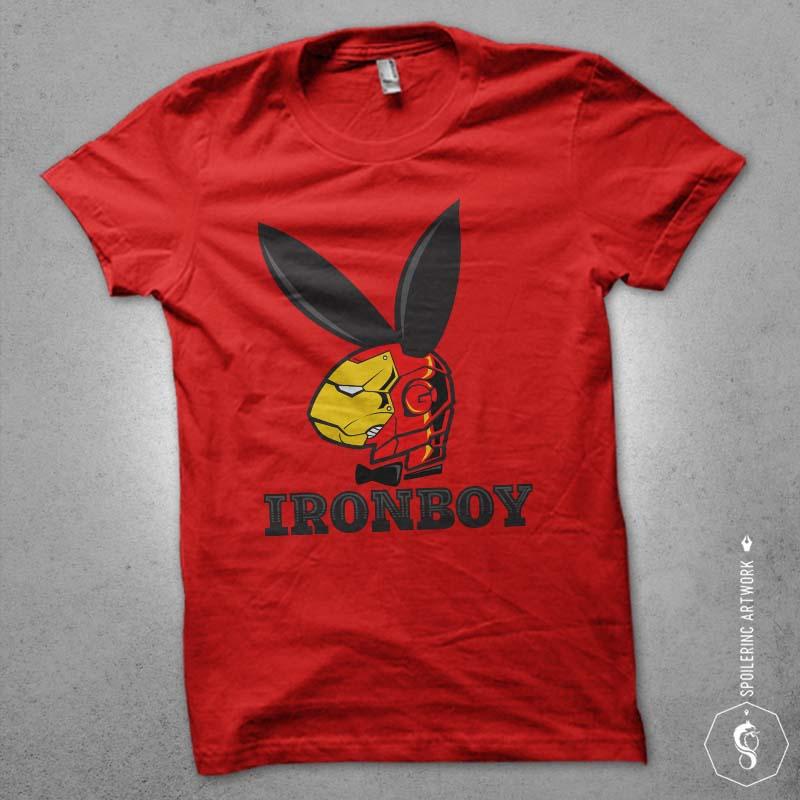 iron boy buy t shirt design