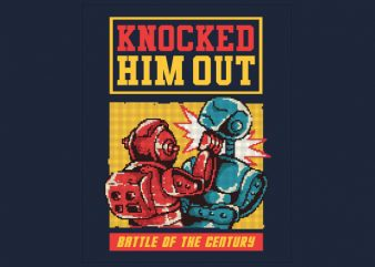 Knocked Him Out tshirt design
