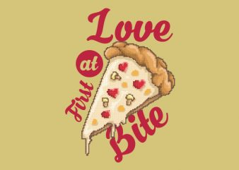 Love At First Bite Graphic t-shirt design