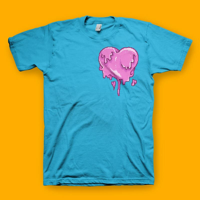 Love Melt Graphic t-shirt design buy t shirt design
