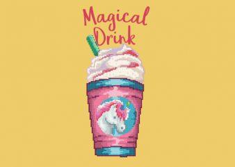 Magical Unicorn Drink Vector t-shirt design buy t shirt design