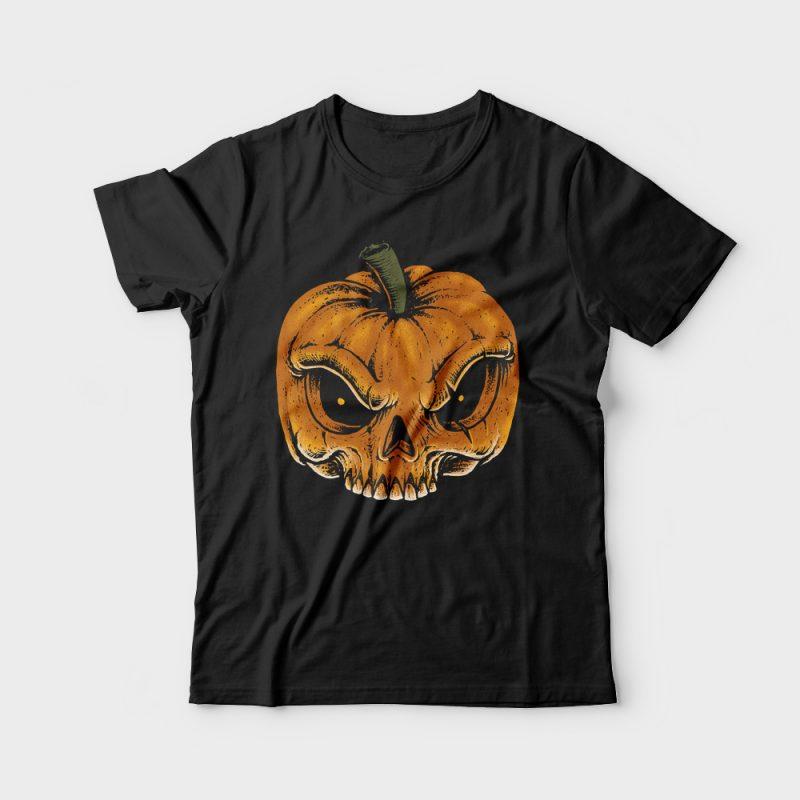 Skull Pumkin buy t shirt design