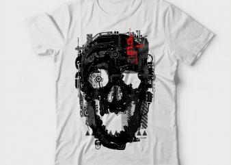 Skullci-Fi buy t shirt design