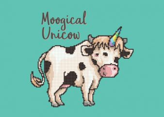 Moogical Unicow tshirt design buy t shirt design