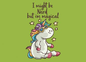 Nerd and Magical tshirt design