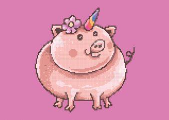 Piggy Corn Vector t-shirt design